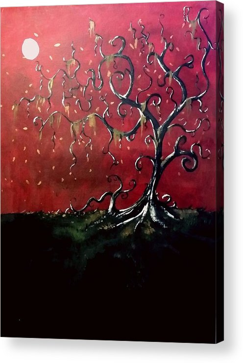 Gothic Acrylic Print featuring the painting Dancing Wood by Carole Hutchison