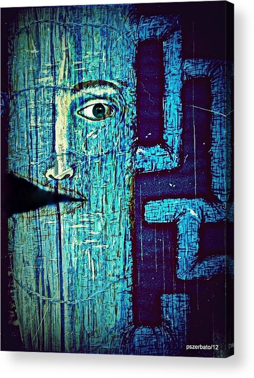 Cut Acrylic Print featuring the digital art Deep Cut by Paulo Zerbato