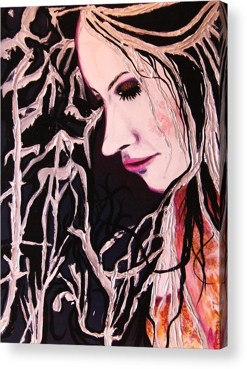 Diva Acrylic Print featuring the painting Diva Sarah by Meshal Hardie