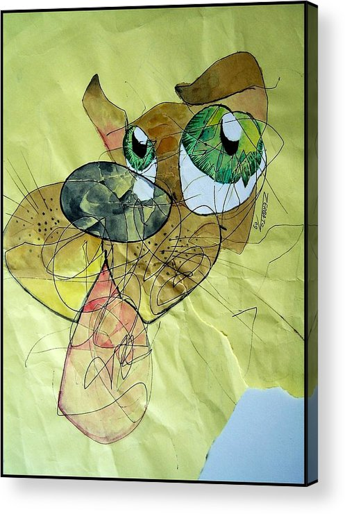 Scribbles Acrylic Print featuring the digital art Dog by Paulo Zerbato