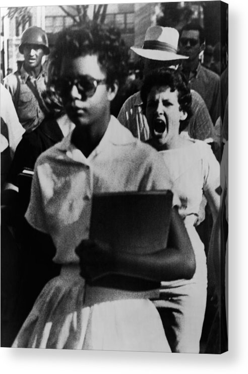 History Acrylic Print featuring the photograph Elizabeth Eckford, One Of The Nine by Everett