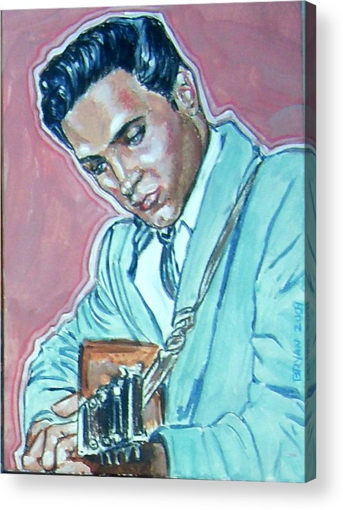 Elvis Presley Acrylic Print featuring the painting Elvis Presley by Bryan Bustard