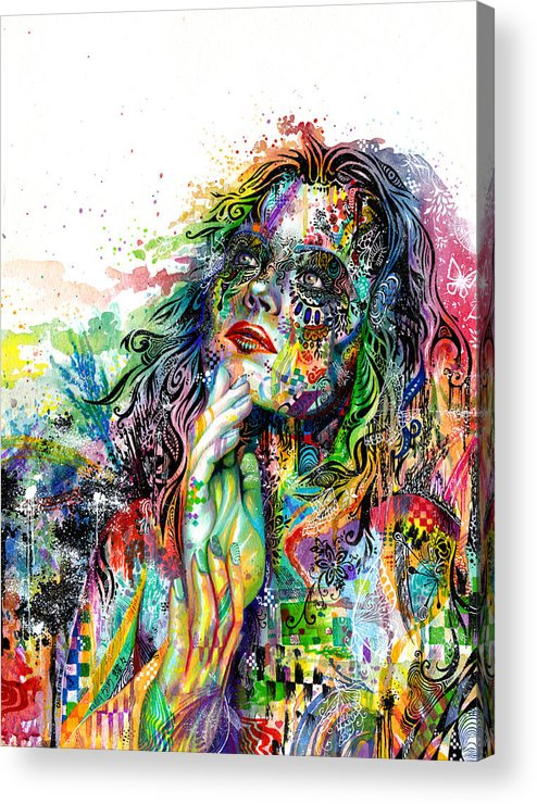 Dream Acrylic Print featuring the painting Enigma by Callie Fink