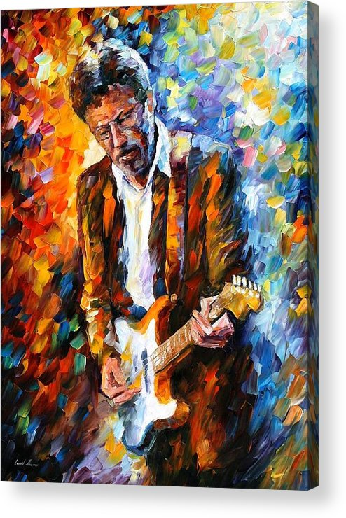 People Acrylic Print featuring the painting Eric Clapton by Leonid Afremov