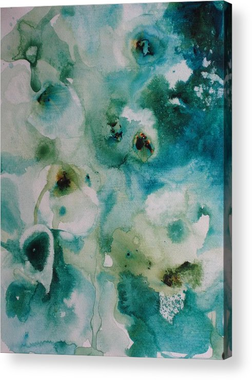 Floral Acrylic Print featuring the painting Essence Of Flower by Elizabeth Carr