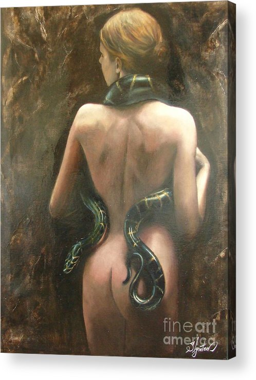Art Acrylic Print featuring the painting Eva by Sergey Ignatenko