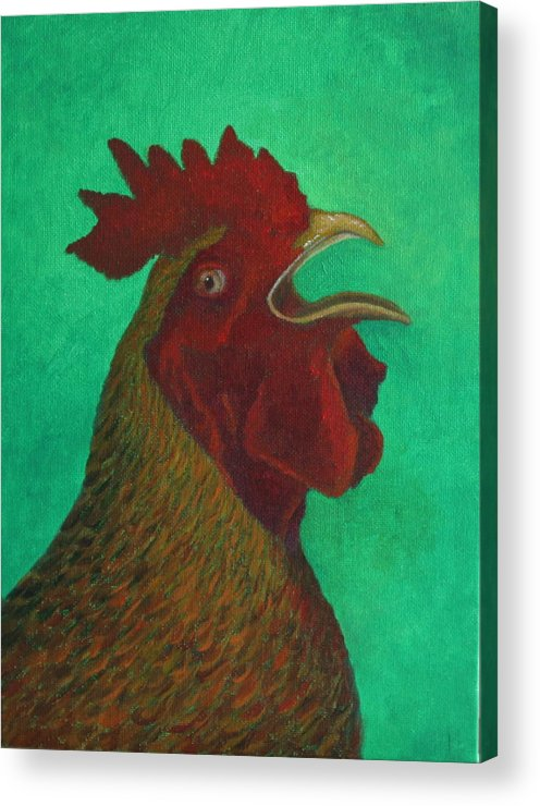Oil Acrylic Print featuring the painting Feliz by Rf Hauver