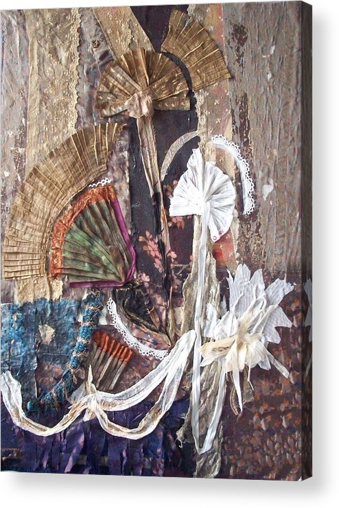 Flowers Acrylic Print featuring the mixed media Floralis Victoria by Helene Champaloux-Saraswati