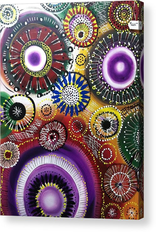 Flowers Acrylic Print featuring the painting Flower Love by Paula Santos