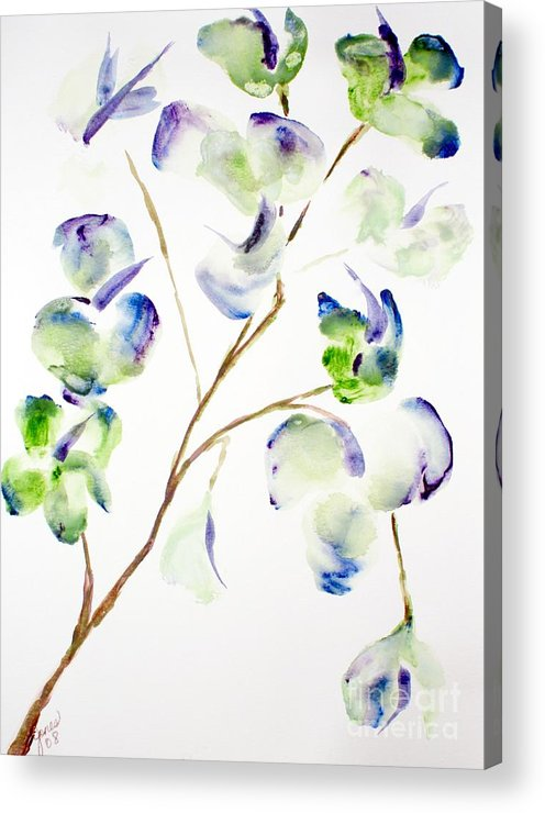Flower Acrylic Print featuring the painting Flower by Shelley Jones