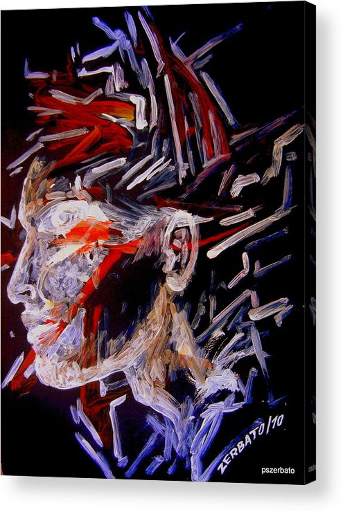 Face Acrylic Print featuring the digital art Forming Opinions by Paulo Zerbato