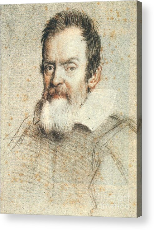1624 Acrylic Print featuring the photograph Galileo Galilei by Granger