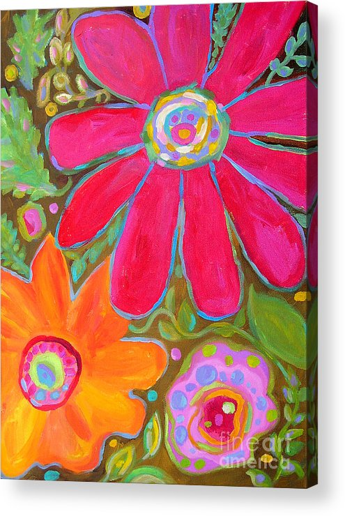 Cottage Acrylic Print featuring the painting Glory All Around by Karen Fields