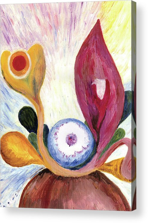 Joy Acrylic Print featuring the painting Glow by Erika