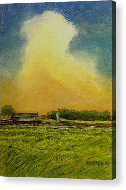 Farm Acrylic Print featuring the painting Golden Storm by Robert Sankner