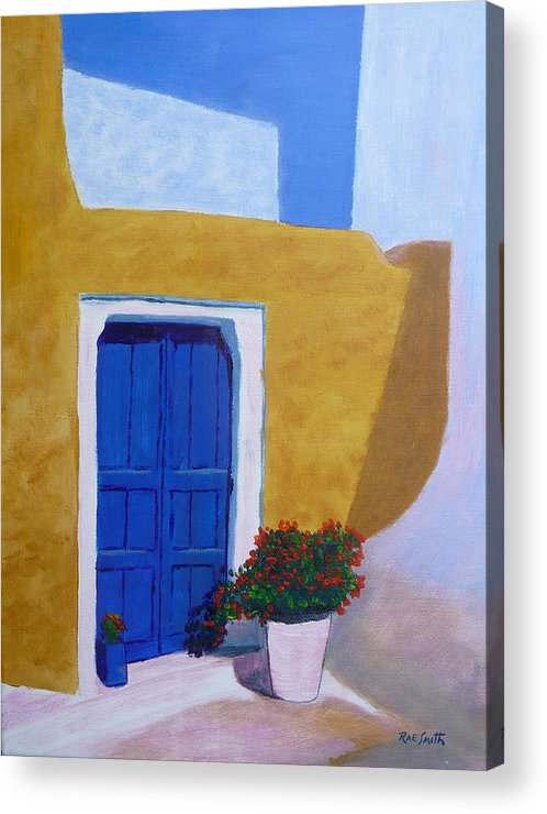 Greece Acrylic Print featuring the painting Greece Painting by Rae Smith