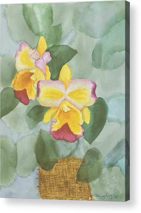 Orchids Acrylic Print featuring the painting Gypsy Orchids by Peggy King
