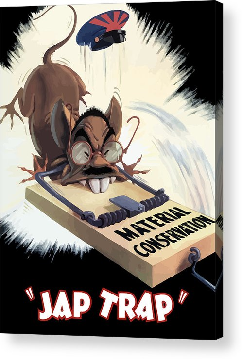 Hirohito Acrylic Print featuring the painting Hirohito As A Rat by War Is Hell Store
