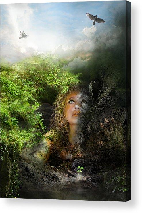 Depression Acrylic Print featuring the digital art I Will Break Free by Mary Hood