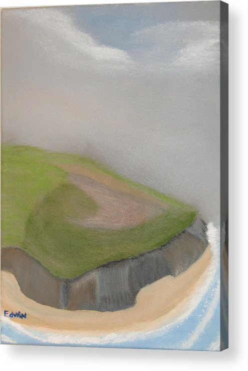 Ireland Acrylic Print featuring the painting Ireland Cliffs by Edwin Long