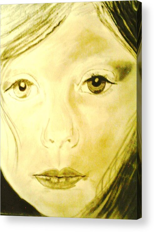 Children Acrylic Print featuring the drawing Jana by J Bauer