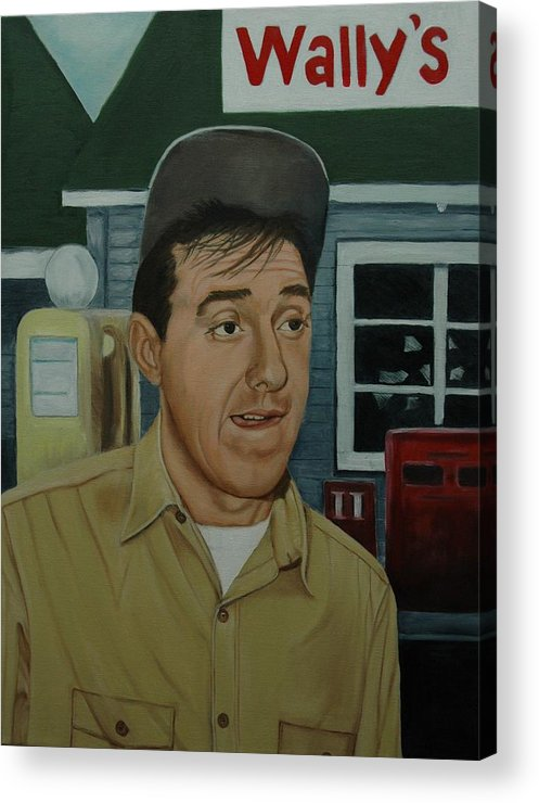 Gomer Acrylic Print featuring the painting Jim Nabors As Gomer Pyle by Tresa Crain