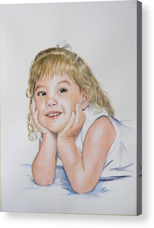 Acrylic Print featuring the painting Kylie Newkirk by Diane Ziemski