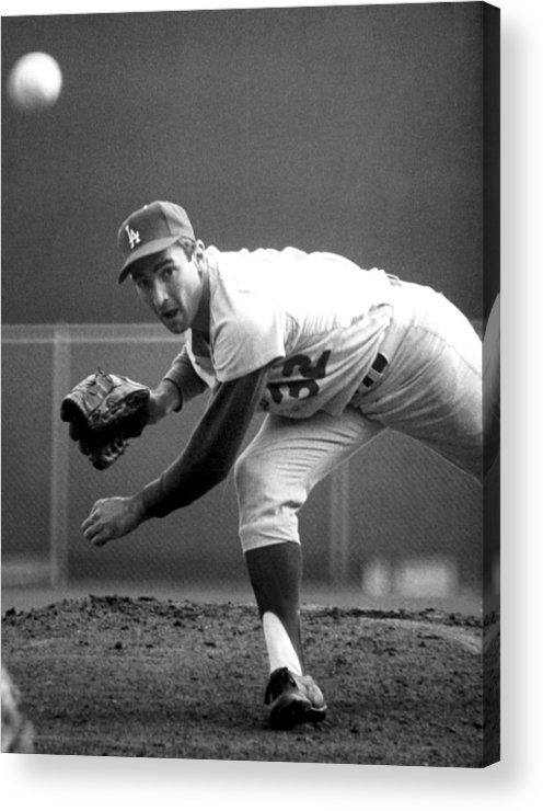 Baseball Acrylic Print featuring the photograph L.a. Dodgers Pitcher Sandy Koufax, 1965 by Everett