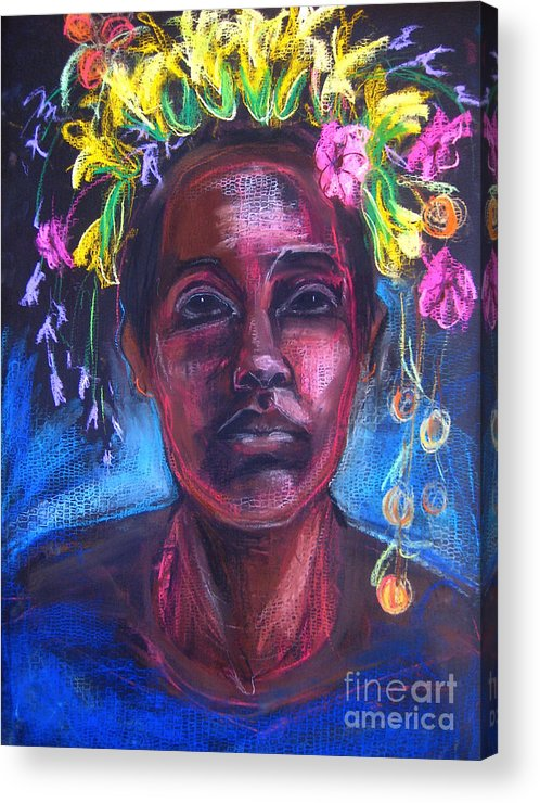 Africa Acrylic Print featuring the drawing Land Of Plenty by Gabrielle Wilson-Sealy