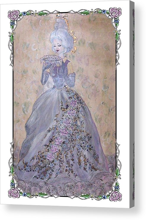 Still Life Acrylic Print featuring the painting Lavender Lady by Phyllis Mae Richardson Fisher