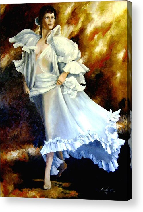 Liberty Acrylic Print featuring the painting Liberty Survives September 11 2001 by Jim Horton