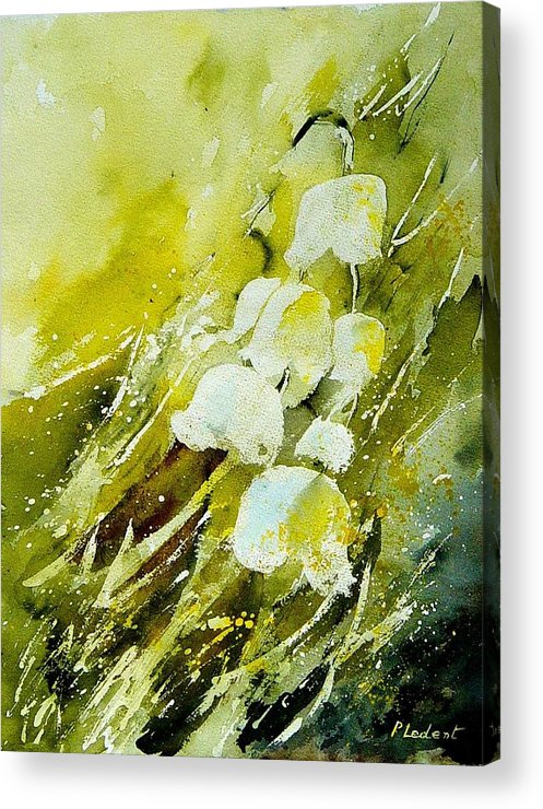 Flowers Acrylic Print featuring the painting Lilly Of The Valley by Pol Ledent