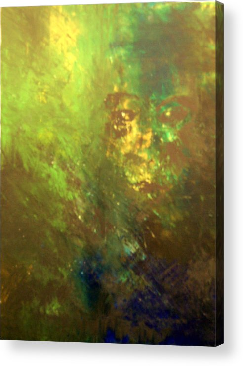 Abstract Acrylic Print featuring the painting Lost Soul Or In The Garden by DeLa Hayes Coward