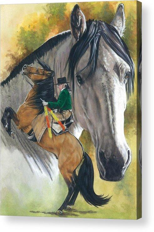Hoof Stock Acrylic Print featuring the mixed media Lusitano by Barbara Keith