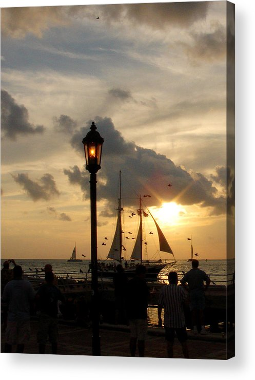 Photography Acrylic Print featuring the photograph Mallory Square Key West by Susanne Van Hulst