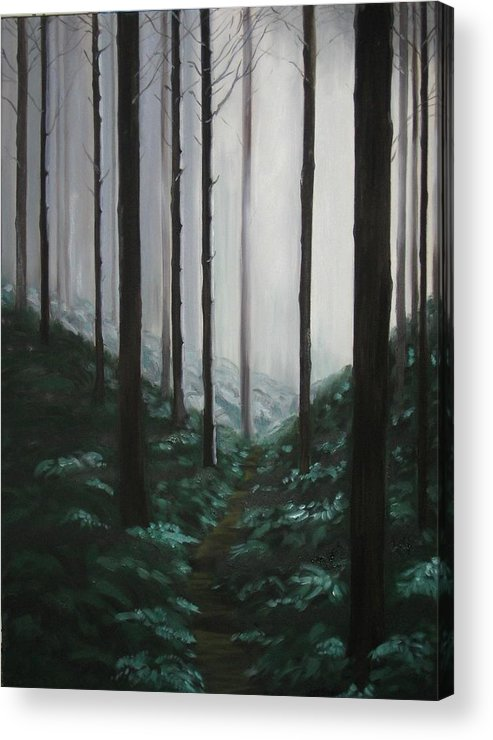 Forrest Acrylic Print featuring the painting Mists Of Past Times by Maren Jeskanen