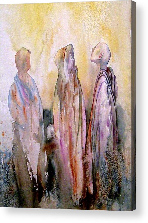 Spiritual Acrylic Print featuring the painting My Spirit Guides by Wendy Hill