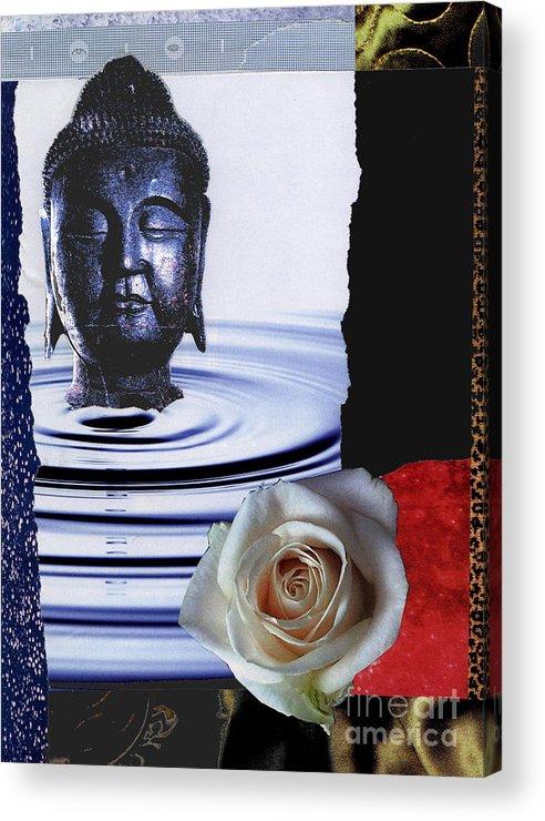 Buddha Acrylic Print featuring the mixed media Namaste by Pederbeck Arte Gruppe