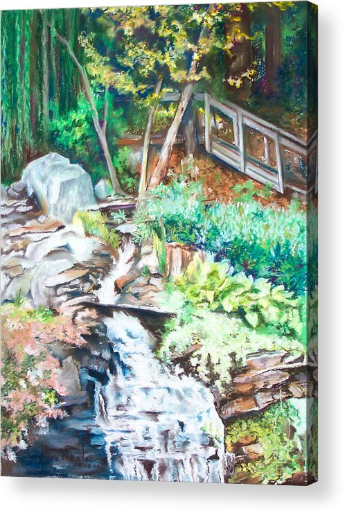 Woods Acrylic Print featuring the painting Nature Walk by Anne Rhodes