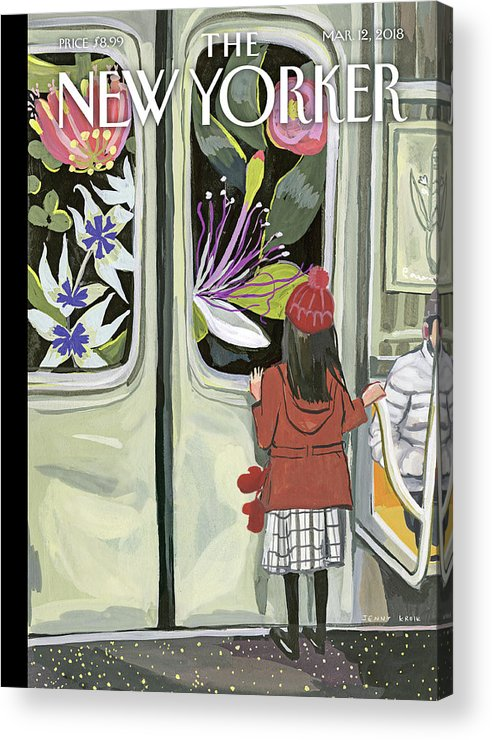 Next Stop: Spring Acrylic Print featuring the painting Next Stop Spring by Jenny Kroik