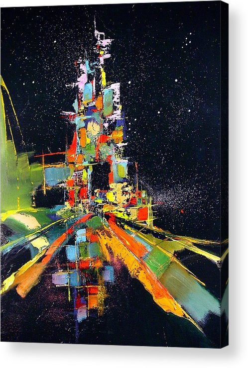 Abstract Acrylic Print featuring the painting Night Carnival by Ronald Dykes