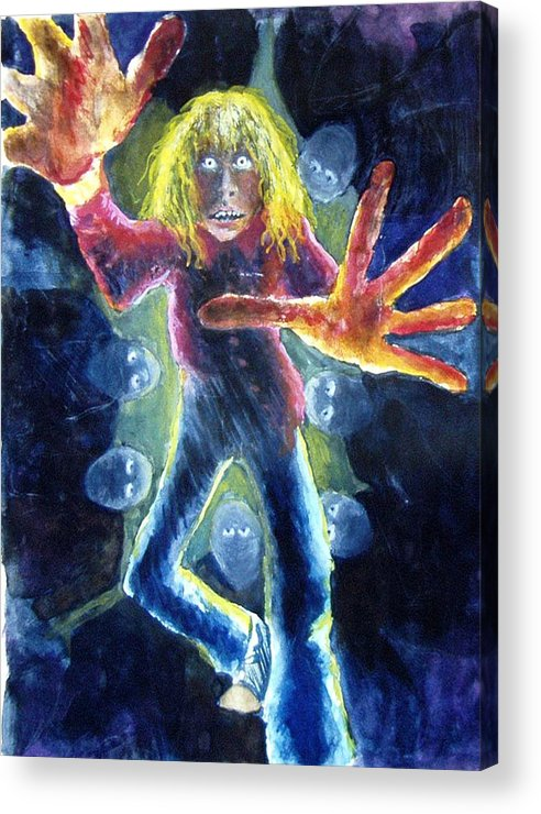 Nightmare Acrylic Print featuring the painting Nightmare by Nancy Mueller