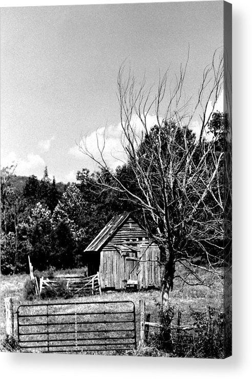 Acrylic Print featuring the photograph Oldshack by Curtis J Neeley Jr