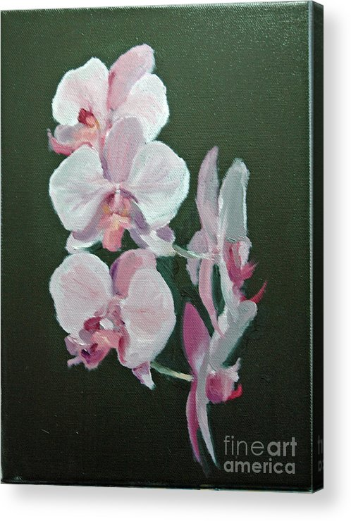 Floral Acrylic Print featuring the painting Orchids For Didi by Glenn Secrest