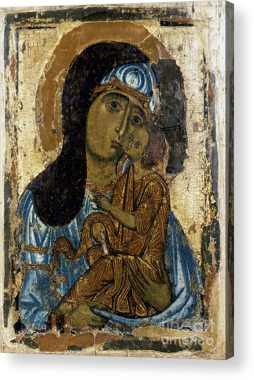 12th Century Acrylic Print featuring the photograph Our Lady Of Tenderness by Granger