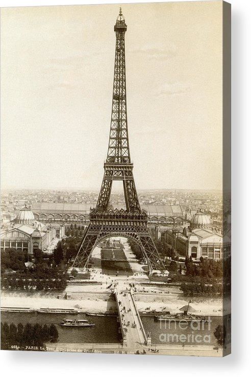 1900 Acrylic Print featuring the photograph Paris: Eiffel Tower, 1900 by Granger