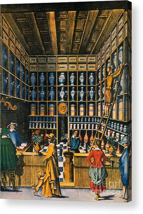 1624 Acrylic Print featuring the photograph Parisian Pharmacy, 1624 by Granger