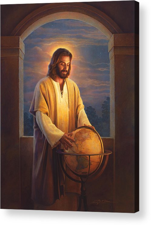 Jesus Acrylic Print featuring the painting Peace On Earth by Greg Olsen