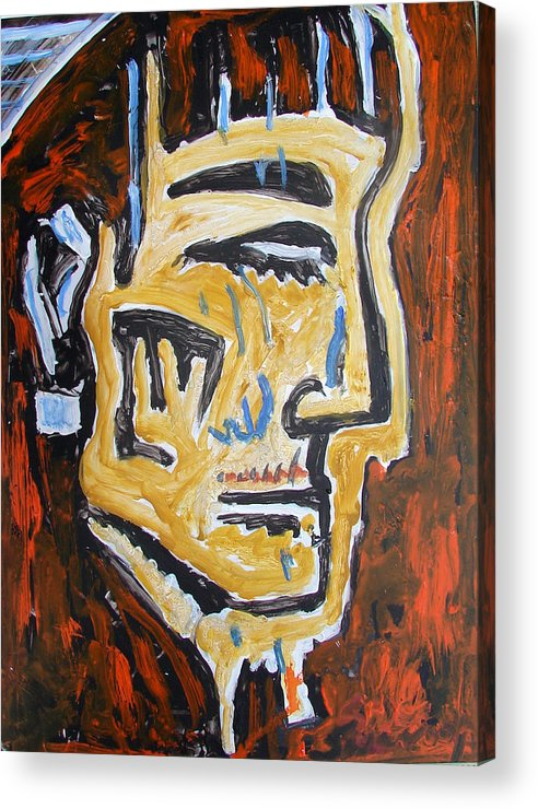 Paintings In Acrylics And Oils On --- Indian Saints Acrylic Print featuring the painting Portrait 8soldier by Anand Swaroop Manchiraju