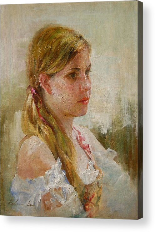 Portrait Acrylic Print featuring the painting Portraiture by Kelvin Lei